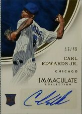 CARL EDWARDS JR. 2016 Panini Immaculate Collection Autographed RC /49