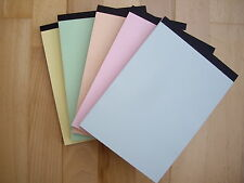 PLAIN WHITE PAPER MEMO PADS A5 SIZE PACK OF 4  WITH PASTEL COVERS
