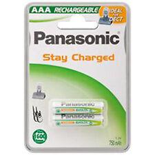 1x2 PANASONIC TELEFON-AKKUS AAA P-03 /LR03 Micro - rechargeable 750 mAh 1,2 V