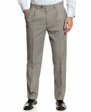 Ralph Lauren Wool Black/White Houndstooth 36x34 Total Comfort Pleated Dress Pant