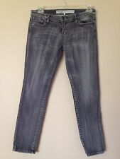 Gray/Black Everyday Skinny Jeans Sz 8 8S Low Rise Cotton Stretch