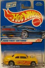 Hot Wheels Yellow Flamed Shoe Box Collector #26 Blister Pack Carded Car