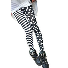 PunkJewelry Fashion Tatuaggio Leggings Stars & Stripes pannoloni