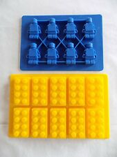 10 Cavity Building Block 8 Cavity Building Person Ice Candy Jello Silicone Molds