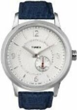 Timex Unisex T Series Classic Automatic Crystal White Dial Blue Leather Watch
