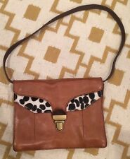 NWOT MADEWELL J.CREW LOVELOCK CLUTCH IN CALF HAIR WITH SHOULDER STRAP $188