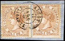"""ALICANTE - EDI o 96 (2) - MATASELLOS FECHADOR T. II """"ALCOY"""""""