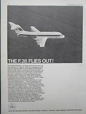 6/1967 PUB FOKKER AIRCRAFT HOLLAND FOKKER F28 FELLOWSHIP FIRST FLIGHT AD