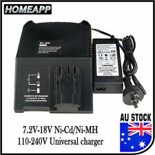 AU Battery Charger for MILWAUKEE AEG ATLAS COPCO 7.2V-18V 12V 14.4V Ni-Cd Ni-MH