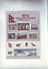 pochette de timbres Nepal - 9 timbres neufs - non obliterés
