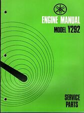 1972 YAMAHA ENGINES SNO JET MODELS Y292 SERVICE PARTS MANUAL  (327)