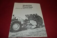 New Holland 850 Round Baler Dealers Brochure YABE10