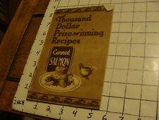 1931 CANNED SALMON thousand dollar prize-winning recipes book, 24pages