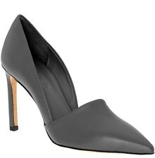 VINCE Cosette Pointed Toe d'Orsay Pumps in Graphite Gray Leather Size 8.5