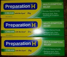 3 25g Preparation H with Bio Dyne CREAM from Canada Exp JUNE 2019 FREE SHIP USA
