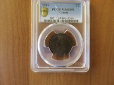 Canada 1919 George V Cent 1919 PCGS MS65 Brown