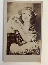 "Vintage Postcard - Woodbury Series #2001 - ""A Girl With Doves"" - Posted 1906"
