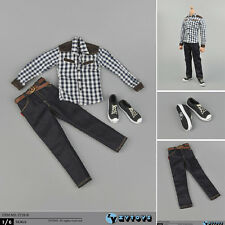 "ZYTOYS ZY16-8 1/6th Scale Man Shirt Jeans Shoes Set For 12"" Male Action Figure"