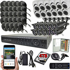 Sikker 32 Ch Channel 720P AHD CCTV DVR 24 Video Color Camera Security system 4TB