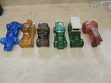 lot of 6 Avon bottles cars truck tractor good condition