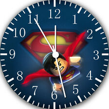 "Lego Superman wall Clock 10"" will be nice Gift and Room wall Decor E27"