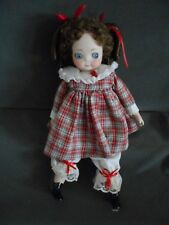 """Lorraine DeFeno Reproduction Doll, Googly Eyes, Porcelain/Cloth Body, 10"""", Very"""