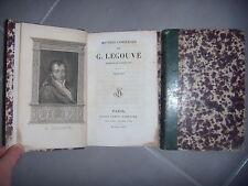 Oeuvres complètes de G. Legouvé: 2 tomes: Théâtre + Poèmes, 1826, BE