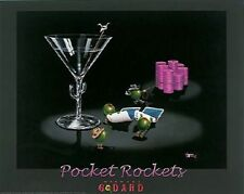"Michael Godard-""POCKET ROCKETS"" Gambling-Texas Hold Em-Poker-Las Vegas-Poster"