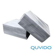 100 QUVIDO Papierhüllen für CD DVD & Blu-Ray Weiß