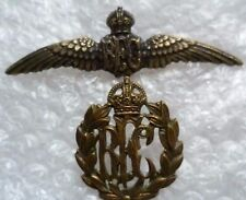 1st Pattern Royal Flying Corps Pilots Wings Badge & Cap Badge(BRASS,100%ORG,RARE