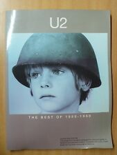 U2 The Best Of 1980-1990 Voice Guitar transc. Chords TAB Book NEW OLD STOCK