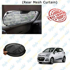 Nylon Mesh Black Rear Window Car Curtain (Foldable) For Hyundai I10