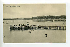 Onset (Wareham) Ma Mass The Pier, tiny people, boats, cottages in distance early