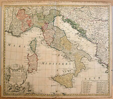 Carte ancienne HOMANN antic map 1742 ITALIE Sicile Sardaigne Corse Italia Italy