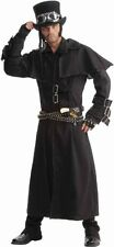 Men's Steampunk Duster Coat, Black, One Size Costume