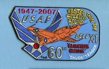 BELL X-1 CHUCK YEAGER EDWARDS 60th ANNIVERSARY MACH 1 USAF Squadron Jacket Patch