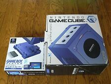 NINTENDO GAMECUBE CONSOLE & Gameboy Player INDIGO  BOXED NTSC JAPAN