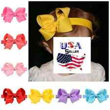 Lot of 20 Newborn Baby Toddler Girls 4 Inch Boutique Bow Elastic Soft Headbands