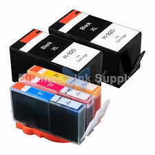 5 PACK 920XL NEW GENERIC 920 HIGH YIELD 920XL w/Chip+INK LEVEL for HP Printer