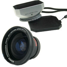 Bower 37mm 0.38x Wide Angle Lens,Hood for Canon Vixia HF100 HF11 HFM32 HFM31/ 30