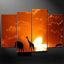AFRICAN SUNSET SPLIT CANVAS WALL ART PICTURES PRINTS LARGER SIZES AVAILABLE