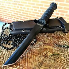 "6"" TACTICAL HUNTING Boot Neck Survival FIXED BLADE KNIFE Military & SHEATH"