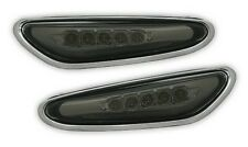 SMOKED LED SIDE REPEATERS INDICATORS FOR BMW E46 3 SERIES E60 E61 5 SERIES & X3