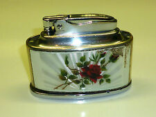 "RONSON ""SENATOR"" TABLE SILVER LIGHTER W. GLASS ENAMEL -PAT.621570- 1950 -ENGLAND"