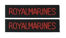 British Army ROYAL MARINES Shoulder Titles Flashes - WW2 Repro Arm Insignia