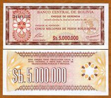Bolivia, 5,000,000 (5000000) Pesos Bolivanos, 1985, P-193, UNC