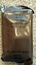 Vintage US Military MRE Menu No. 5 Beef Stew