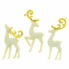 Jesse James Buttons ~ Dress It Up ~ MAJESTIC REINDEER 9075 Christmas Craft ~ Sew