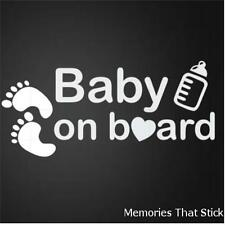BABY ON BOARD Funny Car Window JDM VW VAUXHALL Novelty Vinyl Decal Sticker v6
