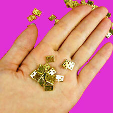 10x Mini Small Metal Hinge for 1/12 House Miniature Cabinet Furniture+(Screws)